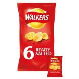 Walkers Ready Salted Crisps 6 x 25g